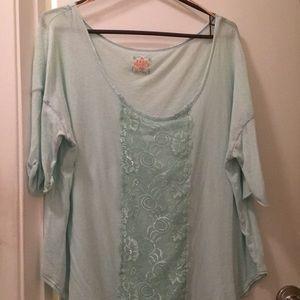 Free people mint shirt size M